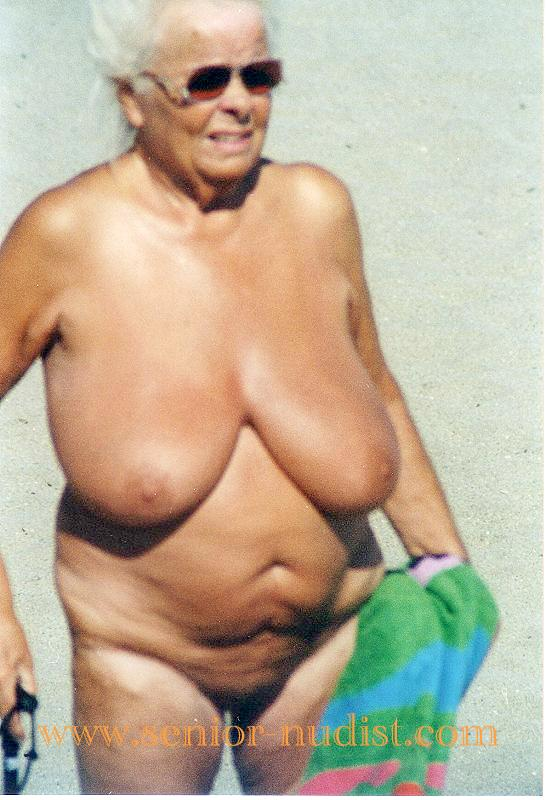 Elderly senior nudists